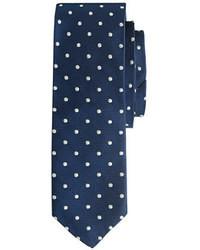 Cambridge Silversmiths Extra Long Italian Silk Repp Tie In Dot