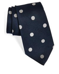 Polka dot silk tie medium 182044