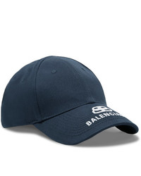 Balenciaga Logo Embroidered Cotton Twill Baseball Cap
