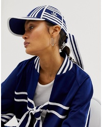 adidas Originals X Ji Won Choi Tie Back Three Stripe Baseball Cap In Navy