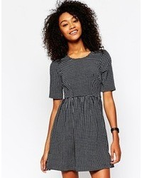 Vero Moda Grid Print Skater Dress
