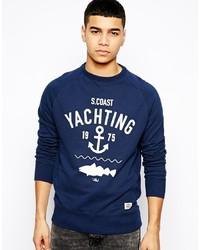 Jack & Jones Sweatshirt With Yachting Print
