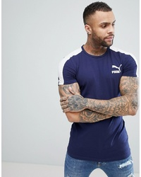 Puma Archive T7 Muscle Fit T Shirt In Navy 57501506