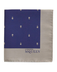 Skull pindot pocket square navywhite medium 103599