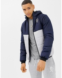 Navy and White Puffer Jacket