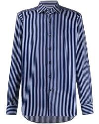 Corneliani Striped Button Front Shirt