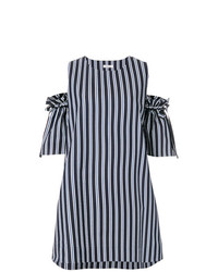 P.A.R.O.S.H. Off The Shoulder Stripe Dress
