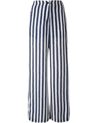 Eggs Striped Wide Leg Trousers