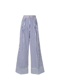 Rossella Jardini Striped Wide Leg Trousers