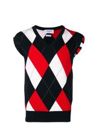 Thom Browne 4 Bar Argyle V Neck Pullover Vest