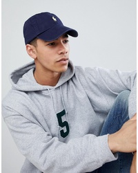 Polo Ralph Lauren Baseball Cap With White Player Logo In Washed Navy