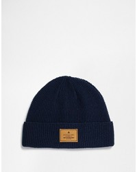 Asos Brand Stitch Detail Beanie With Patch