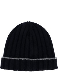 Cashmere ribbed beanie medium 640518