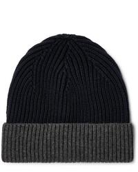Altea Colour Block Ribbed Virgin Wool Beanie