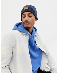 Timberland Gulf Beach Ribbed Beanie In Navy