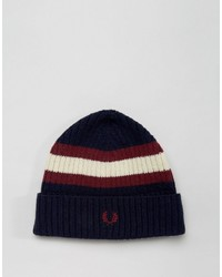 Fred Perry Tipped Beanie In Lambswool