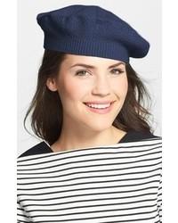 Textured cashmere beret medium 107608