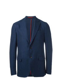 Salvatore Ferragamo Basket Weave Sport Jacket Blue