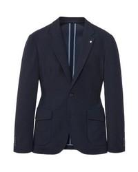 Mango Beta Suit Jacket Dark Navy