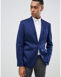Farah Smart Farah Slim Blazer In Navy Premium Jersey