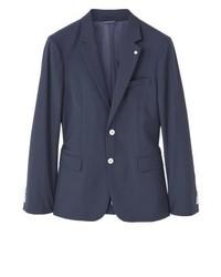 Mango Jogging Suit Jacket Navy