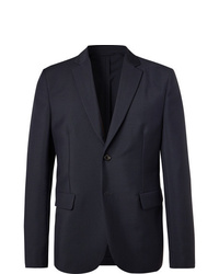 Acne Studios Navy Antibes Unstructured Wool And Mohair Blend Blazer