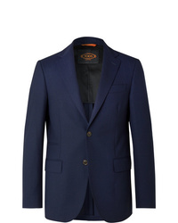 Tod's Navy Slim Fit Wool Blazer
