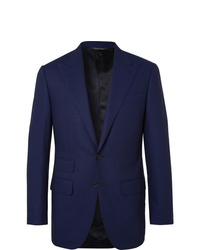 Thom Sweeney Navy Slim Fit Wool Suit Jacket