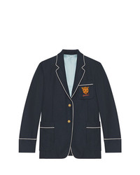 Gucci Palma Cashmere Jacket With Tiger