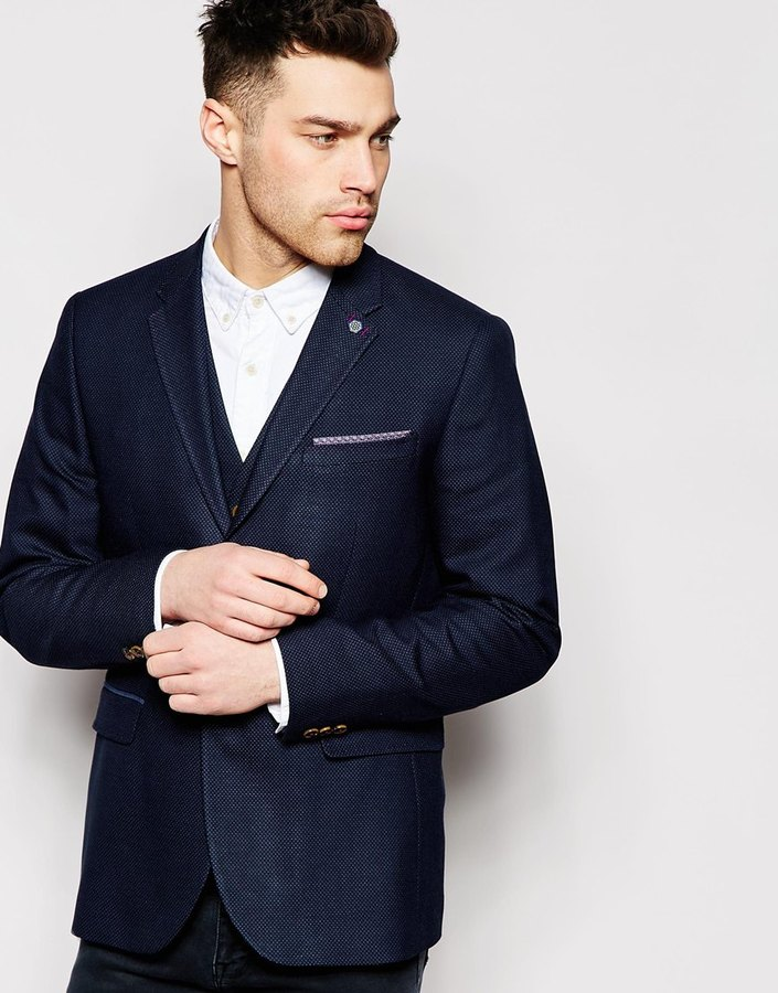 Ted Baker Pin Dot Suit Jacket In Slim Fit | Where to buy & how to wear