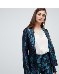 Paper Dolls Tall Premium Jacquard Blazer Co Ord In Multi