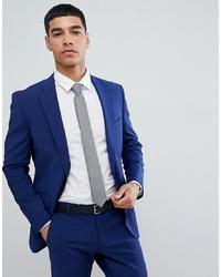 Esprit Slim Fit Suit Jacket In Royal Blue