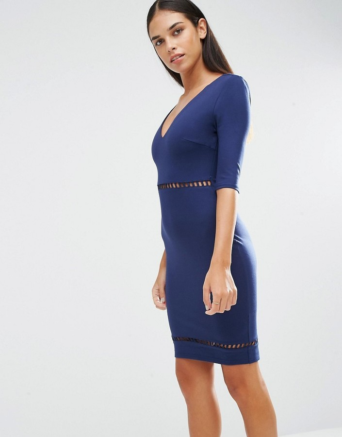 AX Paris Ladder Detail Bodycon Dress | Where to buy & how to wear