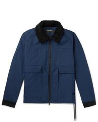 Craig Green Faux Shearling Trimmed Cotton Gabardine Jacket