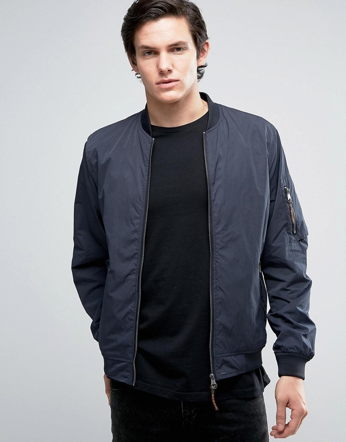 professioneller Verkauf beliebt kaufen toller Rabatt für £35, Jack and Jones Jack Jones Vintage Bomber Jacket With Ma 1 Pocket
