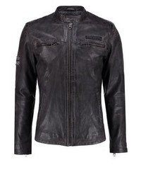 Lennon leather jacket 945grey medium 3833609