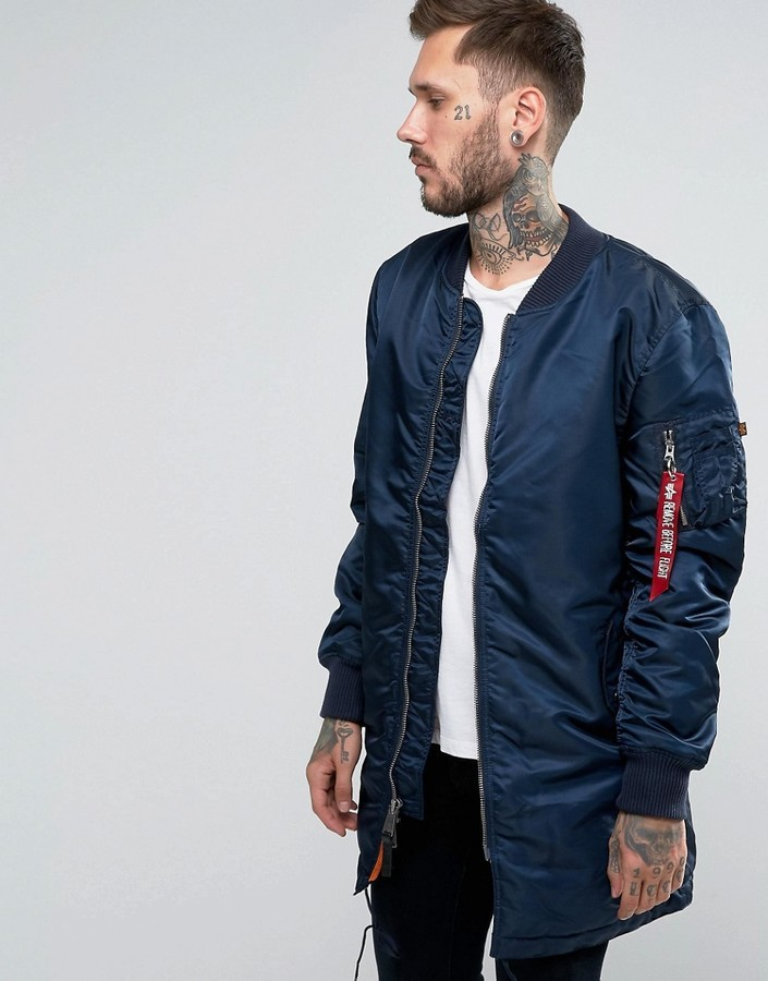 men/man uk cheap sale better price for £121, Alpha Industries Ma 1 Bomber Jacket Slim Fit In Bold Blue