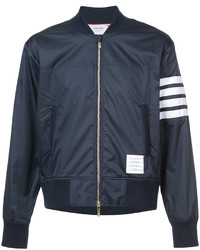 Thom Browne Seamed 4 Bar Stripe Ripstop Bomber