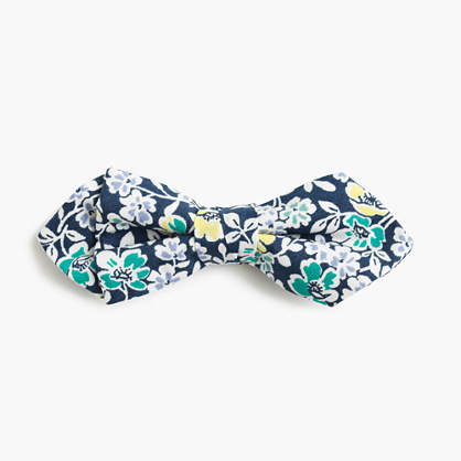 J.Crew Boys Cotton Bow Tie In Navy Floral