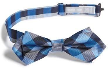 Nordstrom Buffalo Plaid Silk Bow Tie