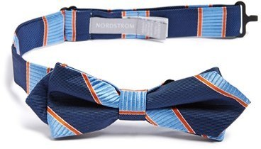 Nordstrom Mike Stripe Silk Bow Tie
