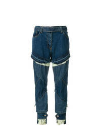 Sacai Distressed Slim Fit Jeans