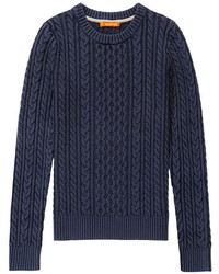 Navy Cable Sweater