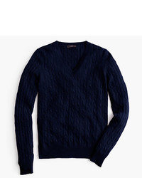 Cambridge cable v neck sweater medium 410385