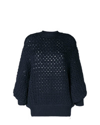 Stefano Mortari Eyelet Knit Sweater