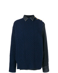 Sacai Hybrid Denim Knitted Jumper