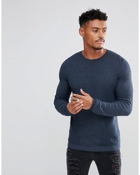 ASOS DESIGN Muscle Fit Lightweight Cable Jumper In
