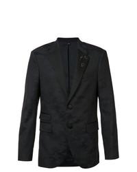 Neil Barrett Camouflage Trim Suit Jacket Blue