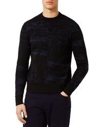 Topman Camo Crewneck Sweater