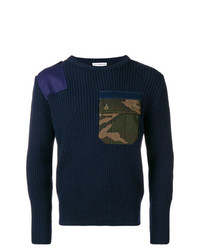 Gosha Rubchinskiy Camo Pocket Ribbed Sweater